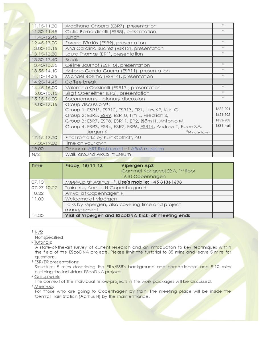 EScoDNA – Kick-off - Program_Page_2